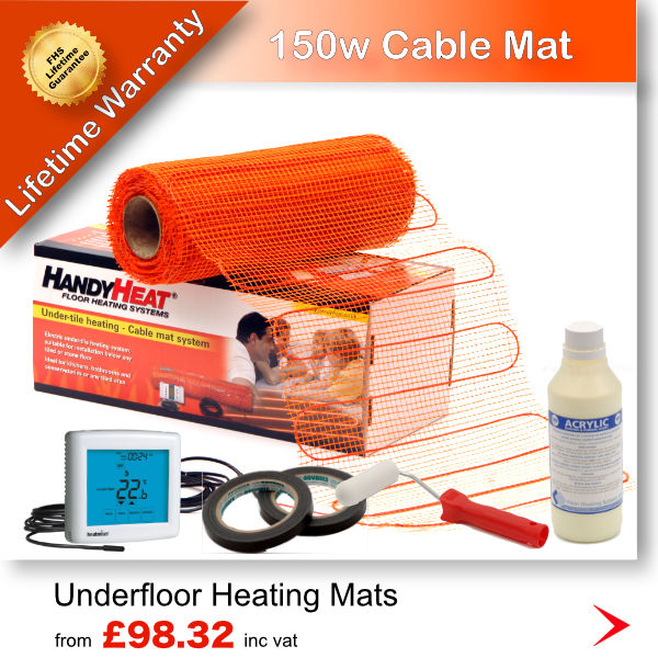 150w Electric Underfloor heating cable mat