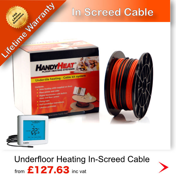 Inscreed heating cable