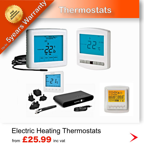 Underfloor Heating Warehouse sell thermostats for wet and electric underfloor heating
