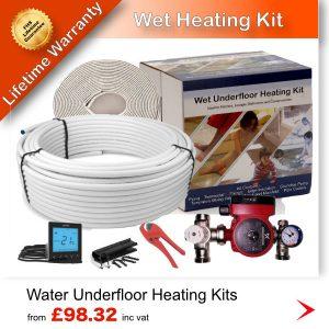 Wet underfloor heating kit