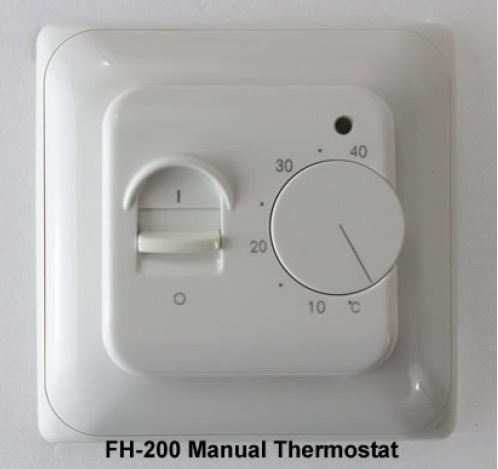 manual floor heating thermostat